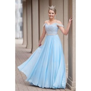 Sherri Hill Baby Blue Gown